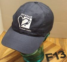 """Stop Hunger"" A Sodexho Initiative Hat Blue Embroidered Strapback Adjust Vgc F13"
