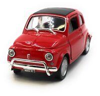 Modellauto Fiat Nuova 500 1957-1975 Oldtimer Rot Auto 1:34-39 (lizensiert)