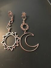 Fashion Earring Boho Festival Party Beach Rose Gold Aztec Sun Moon Luxury Gift