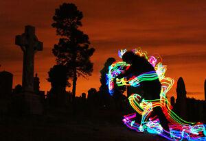 *Light Zombie - Light Graffiti Canvas Print - Ltd Ed of 25 -  Long Exposure WOW*