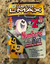 LeapFrog Leapster L-Max Numbers on the Run  Counting on Zero New Sealed ages 4-6