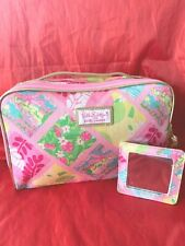 🌹NEW Estee Lauder Lilly Pulitzer Fabric Cosmetic Makeup w/ Handle Case Bag 🌹