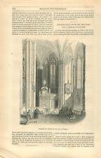 Chapelle la Chasse des Rois Mages Cathédrale de Cologne Kölner Dom GRAVURE 1849