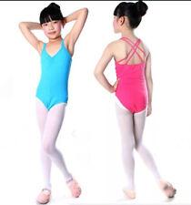Girls Ladies Cotton Ballet Dance Gymnastics Skate Leotard – Double Strap