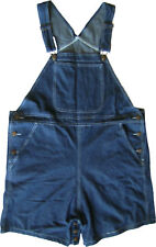 Blue Denim Shortall with Snap Legs for Easy Diaper Changes