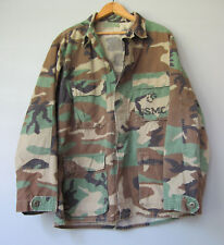 Vtg Camo Jacket Shirt Camouflage US Military M Reclaimed Medium Cotton