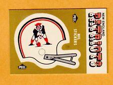 1982 SCHEDULE NEW ENGLAND PATRIOTS OLD MINUTE MAN LOGO HELMET DECAL STICKER CARD