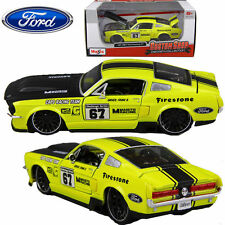 1:24 Maisto 1967 Ford Mustang Racing Car GT Diecast Model Vehicle Kids Toy Gift
