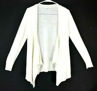 Moth Women's Medium Acrylic Blend Open Front Semi-Sheer Long Sleeve Cardigan