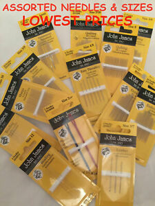 JOHN JAMES Hand Sewing Needles - ALL STYLES SIZES -SEWING CRAFT TAPESTRY BEADING