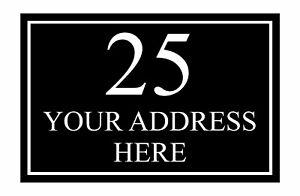 Custom Personalised Your Address Street Border Metal Aluminium Sign Door Plaque