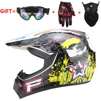 Motorcross Dirt Bike ATV Off Road MTB Motorcycle Helmet Racing Full Face M White
