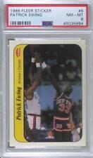 1986-87 Fleer Stickers Patrick Ewing #6 PSA 8 Rookie HOF