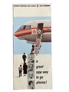 Trans Canada Airlines Vickers Viscount Pamphlet Brochure