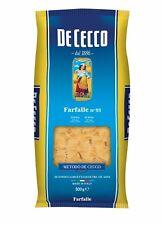 5x Pasta De Cecco 100% Italienisch Farfalle n. 93 Nudeln 500g