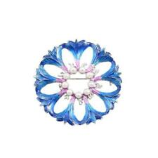 CG2691...ENAMELLED LILY FLOWER BROOCH - FREE UK P&P