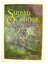 Sinead O'Connor Poster Oconnor O Connor The Warfield