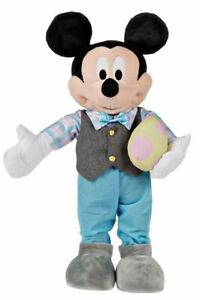 Disney 23 in Tall Easter Mickey Mouse Greeter with Easter Egg NWT