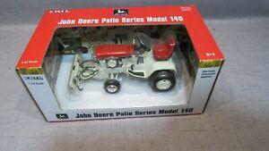 1/16 Ertl John Deere Patio Series Model 140 Red  Garden Tractor W  Plow