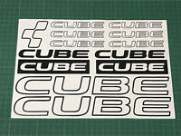 CUBE Cycling Stickers Decals Custom Sizes Colours Bike Frame Fork MTB Road