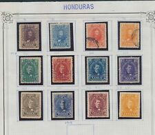 XC22674 Honduras 1907 portraits historical figures fine lot used