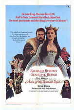 ANNE OF THE THOUSAND DAYS Movie POSTER 27x40 Richard Burton Genevieve Bujold