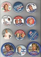 12  HILLARY Clinton 2008 pin Primary Campaign President pinback ALSO Also RAN