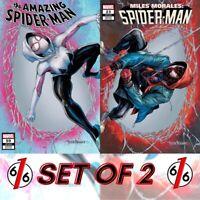 🚨🕷 AMAZING SPIDER-MAN #59 & MILES MORALES #23 TYLER KIRKHAM Variant Set of 2