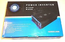 Halo Automotive 1500 Watt Power Inverter 12V DC to 110V AC 3 Outlets and 2 USB