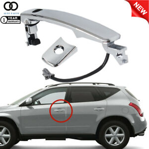 For Nissan Murano 2003-2007 Outside Door Handle Chrome Front Left Driver Side