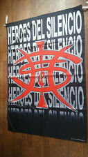 Heroes del Silencio Spanish rockband rock logo music poster flag