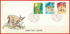CHINA PRC 1980 DEERS (T52)  FDC SC#1610-12 minor WRINKLES on FLAP (E15)