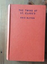 1958 The Twins at St. Clare's by Enid Blyton Rare Hardcover