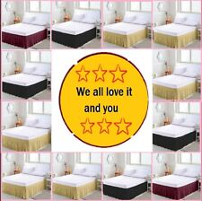Elastic Bed Ruffles Bed Skirt Wrap Around Easy Fit Queen/King All Bed Size/Color