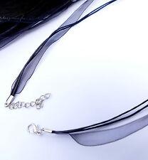 Collier Collier Noir Bande environ 44,2cm pour remorque bijoux