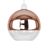Mirror Copper  Clear Glass Ball Modern Ceiling Pendant Light Lamp Shade Lights