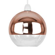 Mirror Copper  Clear Glass Ball Modern Ceiling Pendant Light Lamp Shade Lights