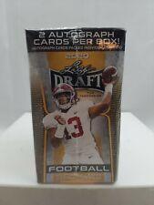 Leaf 2020 NFL Draft Football Trading Cards Blaster Box 2 Autographs - 5 Cards (20 Pack)