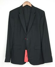 Hugo Boss Mens Suit Separates Jacket 40R (38R) Aeron Solid Black 2 Bttn Slim
