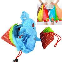 5 x  Faltbare Einkaufstasche Erdbeere Einkaufsbeutel Tragetasche Shopper PAL_