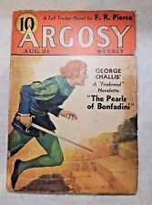 Vintage Pulp Argosy Weekly Volume 258 Number 1 August 24, 1935 George Challis