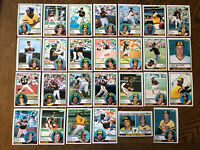 1983 SAN DIEGO PADRES Topps COMPLETE Baseball Team SET 27 Cards GWYNN TEMPLETON!