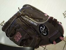"Rawlings Fp110 FastPitch 11"" Youth Softball Glove Brown/Pink Right Handed Throw"