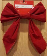 "Holiday Time Red Velvet Christmas Bow - 14"" Length - 10"" Width"
