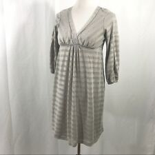 Anthropologie Ella Moss Silver Striped Dress M