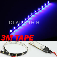"2X 12"" Blue 12 SMD LED Strip Fog DRL Xenon Flexible Interior Trunk Lights"