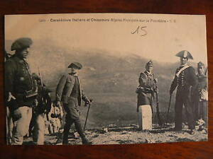 cpa carabinier italien chasseur alpin france frontiere
