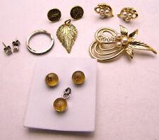 Jewelry Lot! 4 Misc Sets Ring Posts, Earrings Pendant, Earrings Pin Sterling