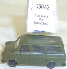 FORD TRANSIT Ejército Verde Gasolina Diesel IMU EUROMODELL 09042 H0 1:87