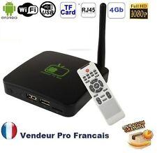 ANDROID TV BOX FULL HD 1080P  4GO WIFI RJ45 PORTS USB LECTEUR CARTE MICRO SD
